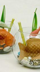 Le poisson dans l'aquarium - création Karamelo confiserie