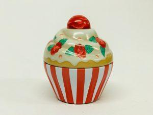 Petit Cupcake rayé rouge