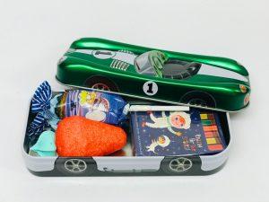 Racing car vert métalisé