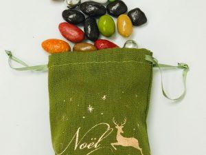 Sachet Noel coton enchanté kaki contenu